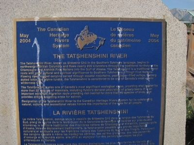 The Tatshenshini River Marker image. Click for full size.