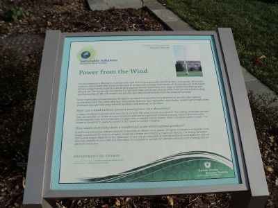 Power from the Wind Marker image. Click for full size.
