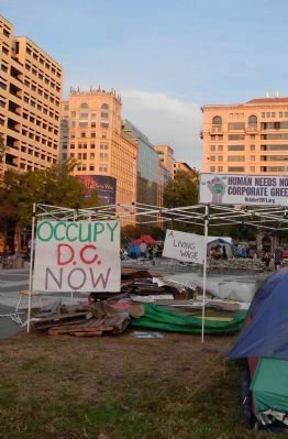 """Occupy D.C."" political demonstrators' encampment at Freedom Plaza, October, 2011 image. Click for full size."