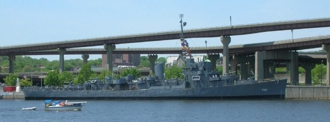 <center>The U.S.S. Slater on the Hudson River in Albany, NY</center> image. Click for full size.