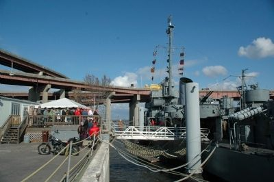 The USS Slater Docked in Albany image. Click for full size.