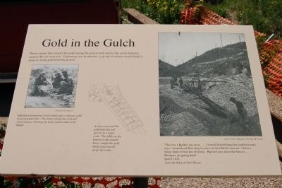 Gold in the Gulch Marker image. Click for full size.