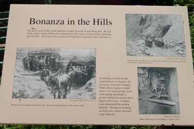 Bonanza in the Hills Marker image. Click for full size.