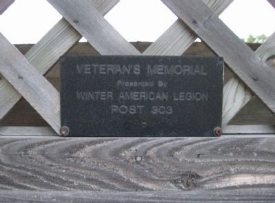 Winter Veterans Memorial Plaque image. Click for full size.