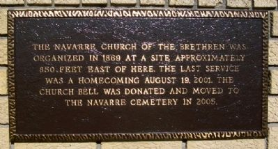 Navarre Church of the Brethren Marker image. Click for full size.