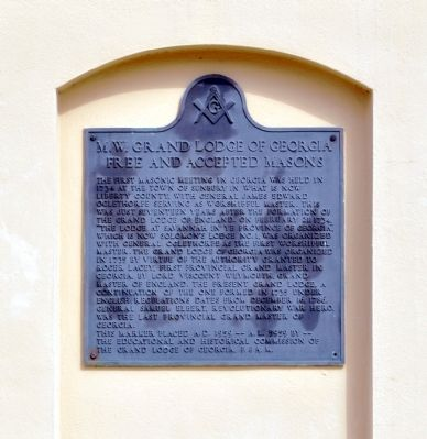 M. W. Grand Lodge of Georgia Marker image. Click for full size.