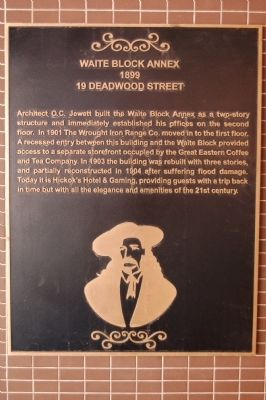 Waite Block Annex Marker image. Click for full size.