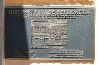 Historic Facade Replication Marker image. Click for full size.