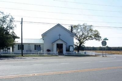 Cokesbury Church and Marker at Seashore Highway and Cokesbury Road image. Click for full size.
