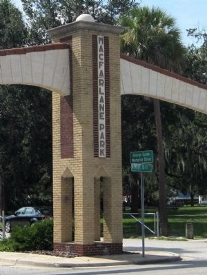 Macfarlane Park Entrance and George Guida Memorial Drive image. Click for full size.