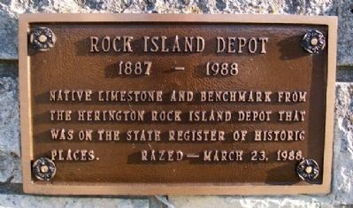 Rock Island Depot Marker image. Click for full size.