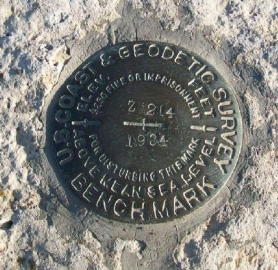Rock Island Depot Benchmark image. Click for full size.