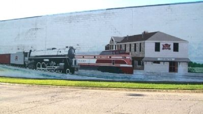 Rock Island Mural Showing Depot image. Click for full size.