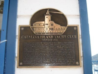 Catalina Island Yacht Club Marker image. Click for full size.