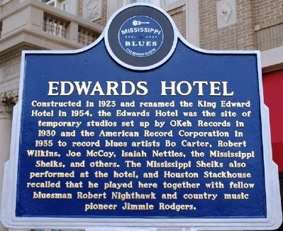 Edwards Hotel Marker image. Click for full size.