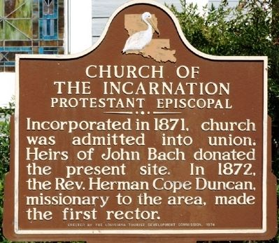 Church of the Incarnation Marker image. Click for full size.