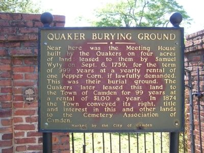 Quaker Burying Ground Marker image. Click for full size.