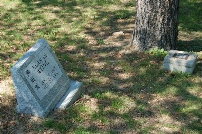 One of the few remaining Chinese Tombstones image. Click for full size.