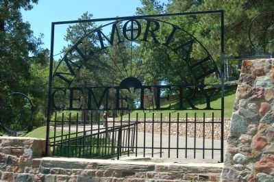 Entrance of the Mt. Moriah Cemetery image. Click for full size.