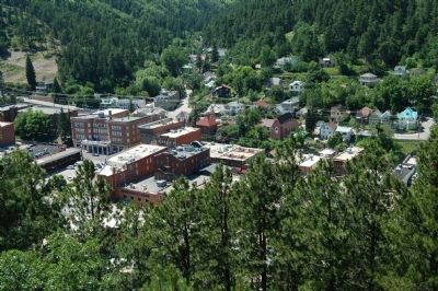 A View of Deadwood from the Mt. Moriah Cemetery image. Click for full size.
