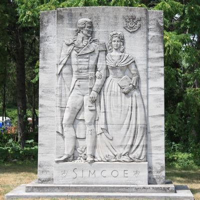 Simcoe Monument image. Click for full size.
