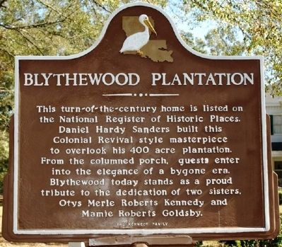 Blythewood Plantation Marker image. Click for full size.