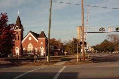 Happy Home Baptist Church at Railroad Avenue W and Memorial Avenue seen from SC Route125 image. Click for full size.