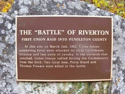 "The ""Battle of Riverton"" Marker image. Click for full size."