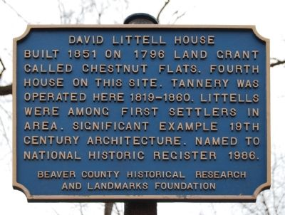 David Littell House Marker image. Click for full size.
