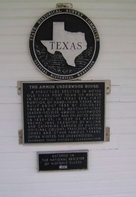 The Ammon Underwood House Marker image. Click for full size.