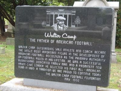 Walter Camp Marker image. Click for full size.