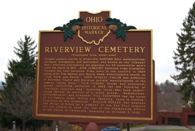 Riverview Cemetery Marker (rear) image. Click for full size.