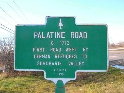 Palatine Road Marker image. Click for full size.