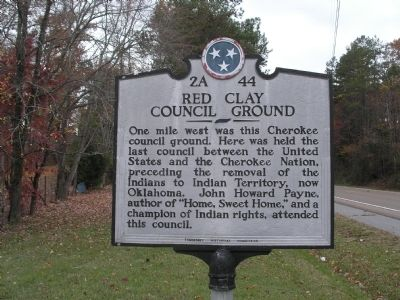 Red Clay Council Ground Marker image. Click for full size.
