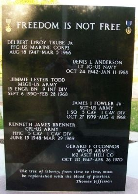 Vietnam Memorial Honor Roll image. Click for full size.