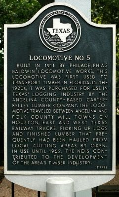 Locomotive No. 5 Marker image. Click for full size.