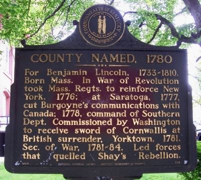 County Named, 1780 Marker image. Click for full size.