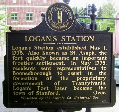 Logan's Station Side of the Marker image. Click for full size.
