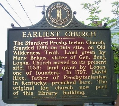 Earliest Church Marker image. Click for full size.
