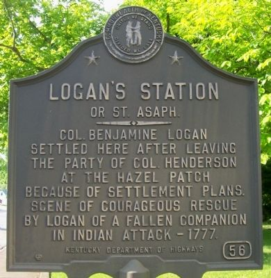 Logan's Station or St. Asaph Marker image. Click for full size.