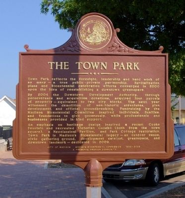 The Town Park Marker image. Click for full size.