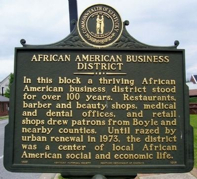 African American Business District side of the marker image. Click for full size.