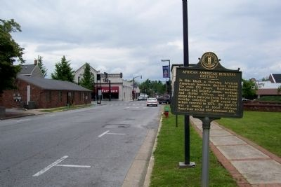 African American Business District - Doric Lodge No. 18 (F. & A.M.-P.H.A.) Marker image. Click for full size.
