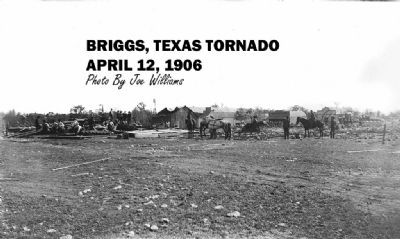 Historic photo of Briggs following the 1906 tornado image. Click for full size.