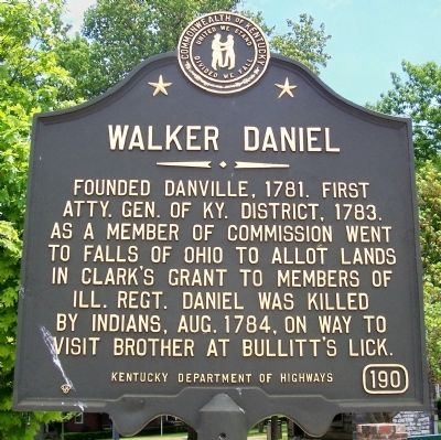 Walker Daniel Marker image. Click for full size.