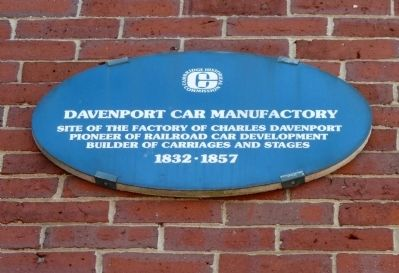 Davenport Car Manufactory Marker image. Click for full size.