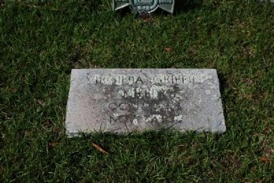 Virginia Griffin Miller Tombstone<br>Due West Presbyterian Church Cemetery image. Click for full size.
