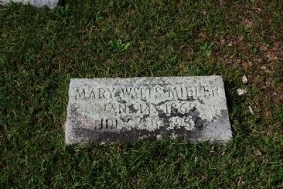 Mary Watts Miller Tombstone<br>Due West Presbyterian Church Cemetery image. Click for full size.