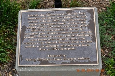 Paducah's River Industry was the city's life blood. Marker image. Click for full size.