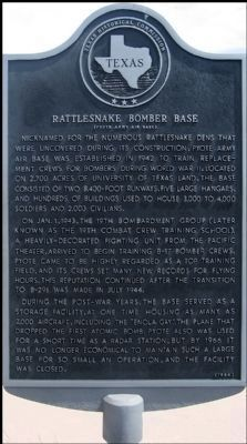 Rattlesnake Bomber Base Marker image. Click for full size.
